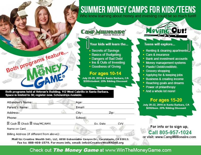 summer money camps for kids