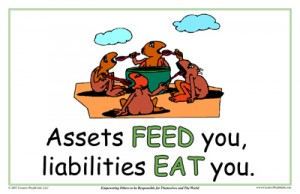 assets feed you, liabilities eat you